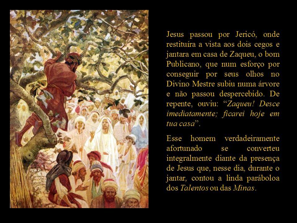 Limita-se a repetir o que já tinha dito: que o Filho do Homem viera, não para ser servido, mas para servir, para dar a Sua vida, em resgate dum grande