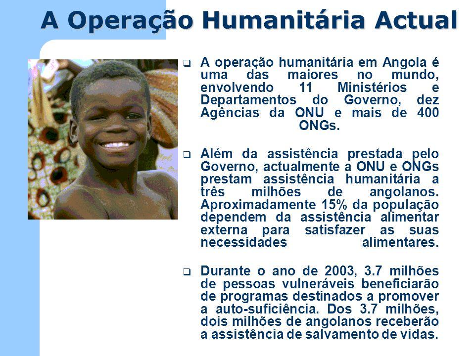 Segundo o Governo, actualmente mais de 3.5 milhões de pessoas são deslocadas em Angola.