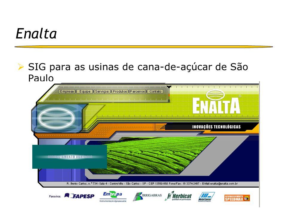 Enalta SIG para as usinas de cana-de-açúcar de São Paulo