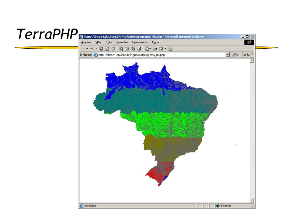 - layerInitItemInfo() - layerFreeItemInfo() - msLayerOpen() - msLayerWhichShapes() - msLayerNextShape() - msLayerGetShape() - msLayerClose() - msLayerGetItems() - msLayerGetExtent() maplayer.c mappostgis.cmapsde.cmaporacle.cmapterralib.c mapserver.c main() mapserver.c main() - layerObj - rectObj - shapeObj mapshape.c Integração MapServer e TerraLib