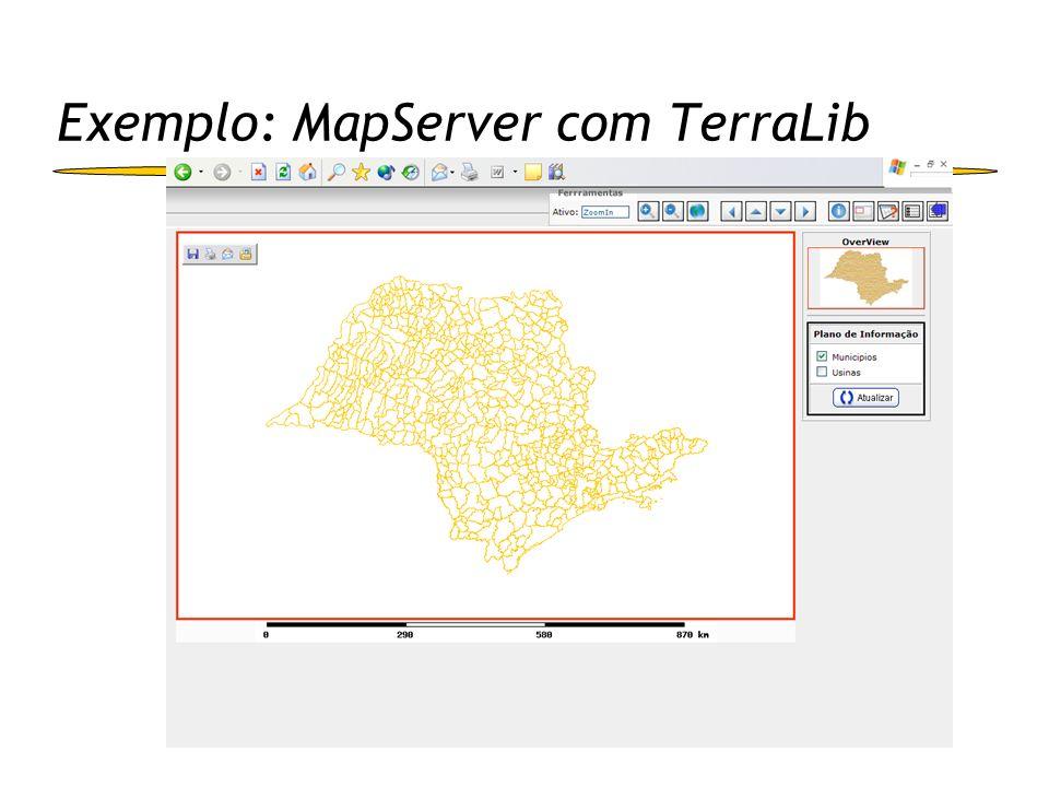 Exemplo: MapServer com TerraLib