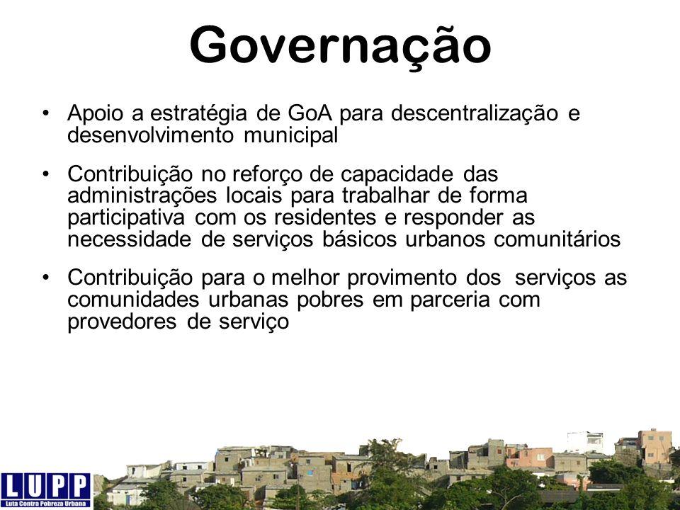Apoio a estratégia de GoA para descentralização e desenvolvimento municipal Contribuição no reforço de capacidade das administrações locais para traba
