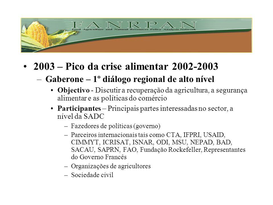 Principal actividade –Realizar estudos especializados em áreas seleccionadas –Identificar pontos críticos –Formular recomendações políticas –Organizar