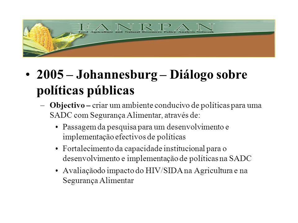 2004 – Maurícias – 2º diálogo anual –Objectivo – Rever e reflectir sobre as estratégias discutidas em 2003 e esboçar o caminho a seguir na região Disc