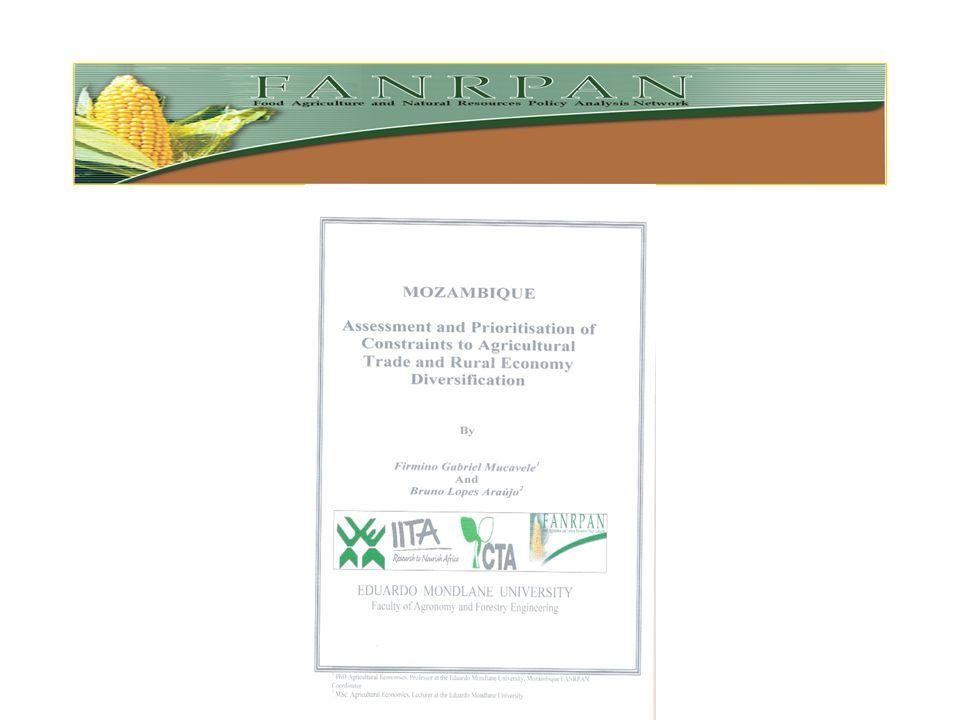 2005 – Johannesburg – Diálogo sobre políticas públicas –Objectivo – criar um ambiente conducivo de políticas para uma SADC com Segurança Alimentar, at