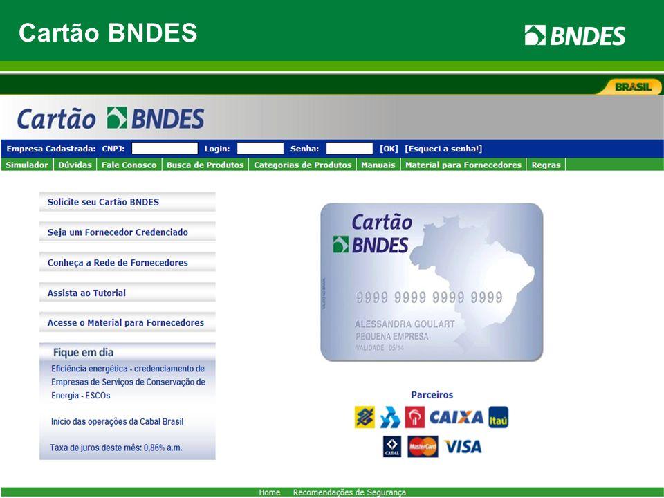 Ambiente de Negócios Parceiros 50 mil Fornecedores credenciados 218 mil produtos 600 mil Compradores MPMEs R$ 32,8 bilhões de crédito pré-aprovado Car
