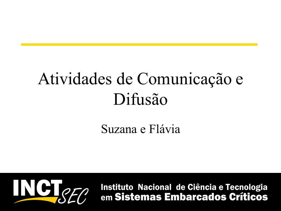 Atividades de Comunicação e Difusão Suzana e Flávia