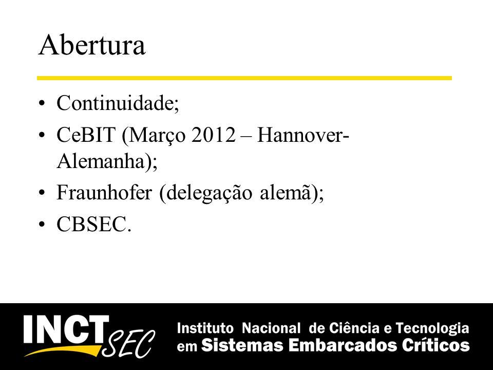 Internal Workshop do INCT-SEC Workshop Anual do INCT-SEC (definição de data, local) –Quando fazer: data.