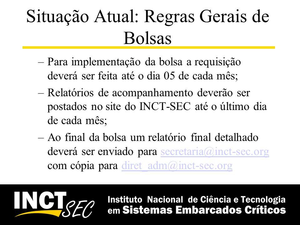 Bolsas CNPq INCT-SEC