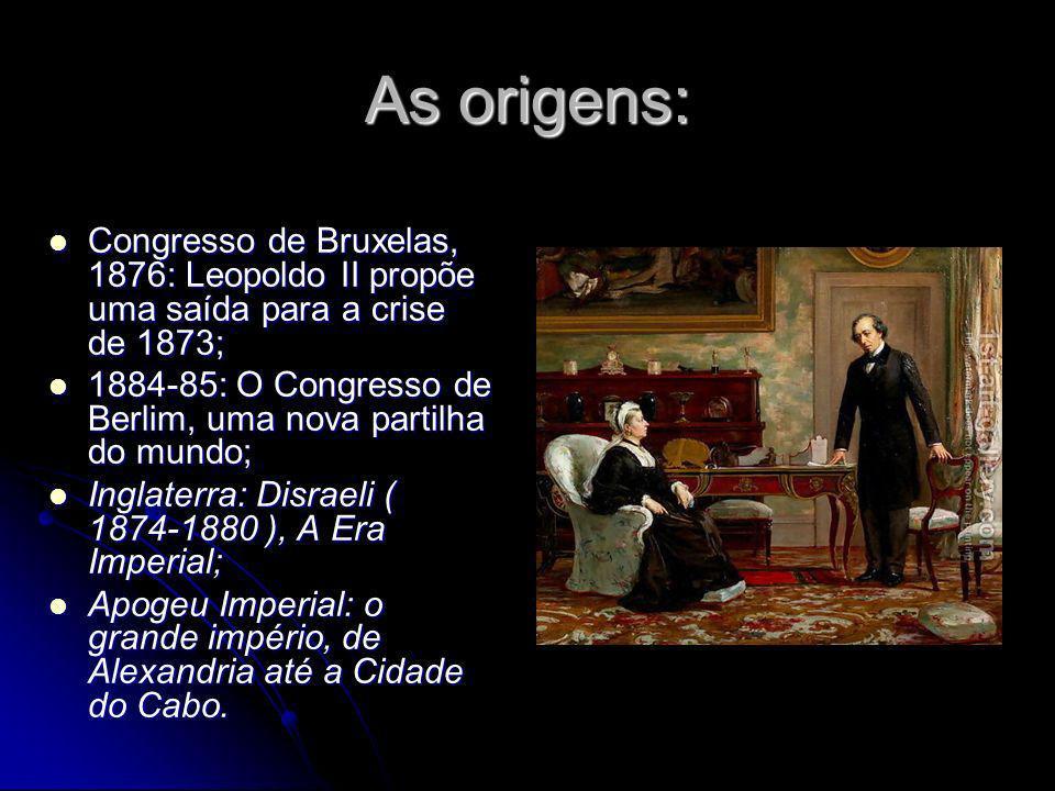 As origens: Congresso de Bruxelas, 1876: Leopoldo II propõe uma saída para a crise de 1873; Congresso de Bruxelas, 1876: Leopoldo II propõe uma saída
