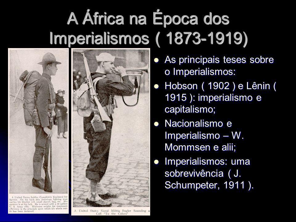 A África na Época dos Imperialismos ( 1873-1919) As principais teses sobre o Imperialismos: As principais teses sobre o Imperialismos: Hobson ( 1902 )