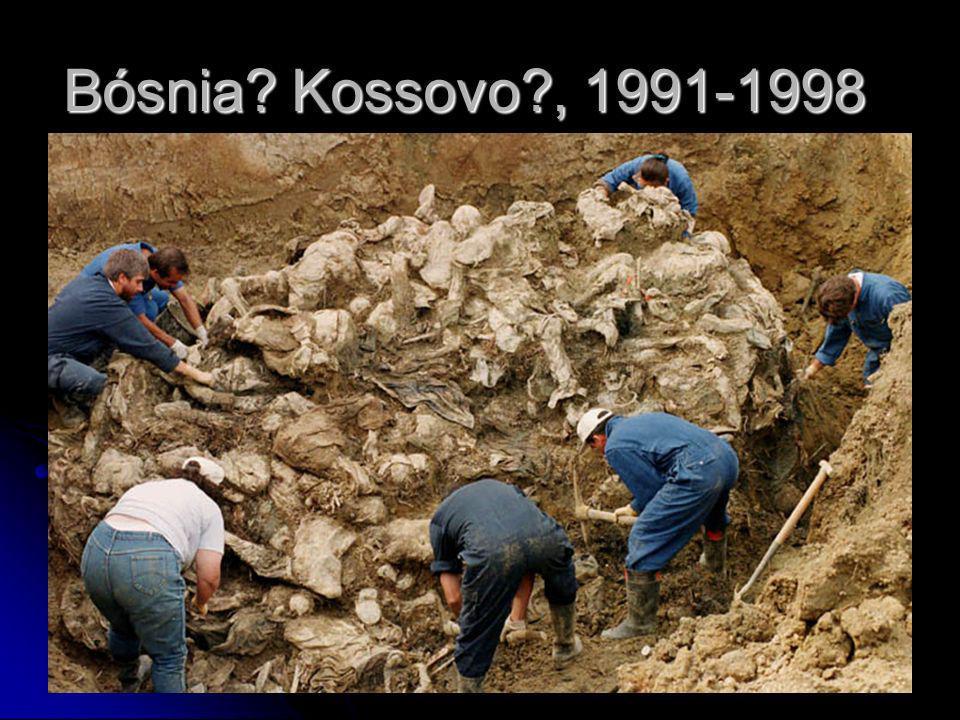 Bósnia? Kossovo?, 1991-1998