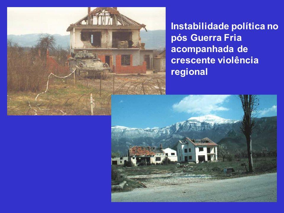 Instabilidade política no pós Guerra Fria acompanhada de crescente violência regional