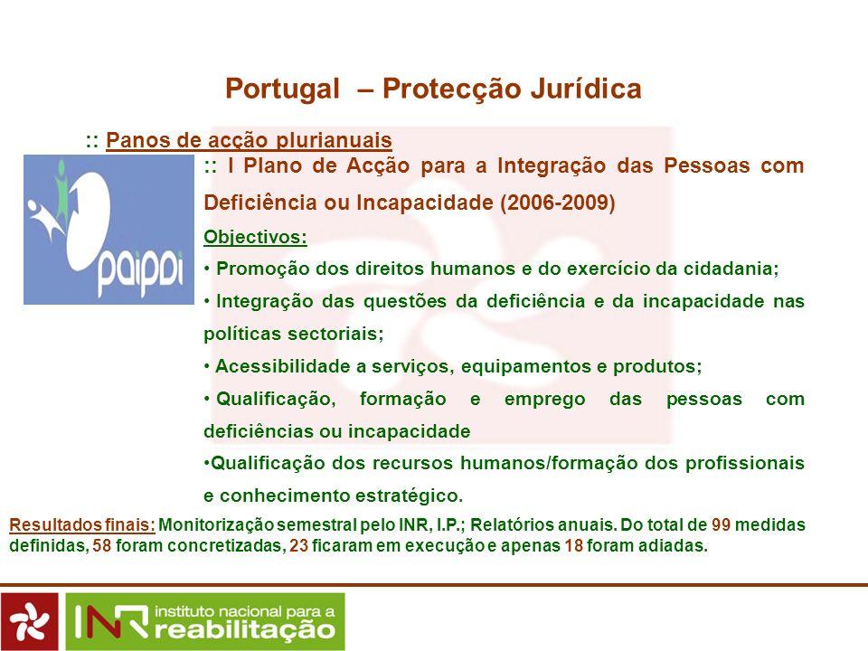 :: I Plano de Acção para a Integração das Pessoas com Deficiência ou Incapacidade (2006-2009) Objectivos: Promoção dos direitos humanos e do exercício