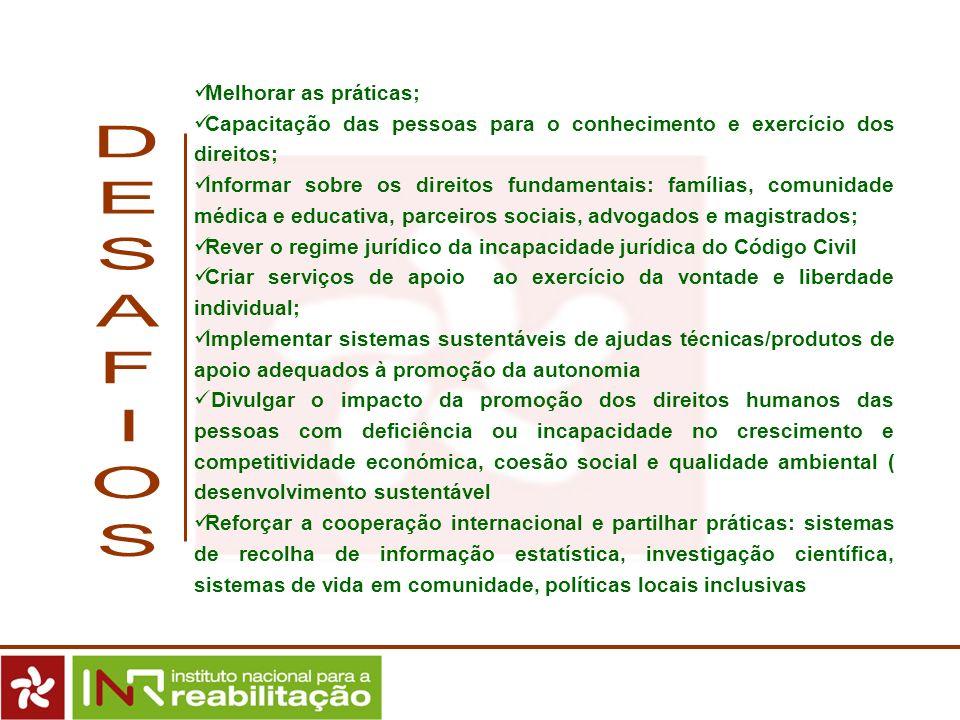 Melhorar as práticas; Capacitação das pessoas para o conhecimento e exercício dos direitos; Informar sobre os direitos fundamentais: famílias, comunid