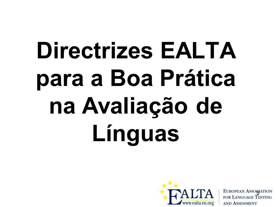 5 Directrizes EALTA para a Boa Prática na Avaliação de Línguas