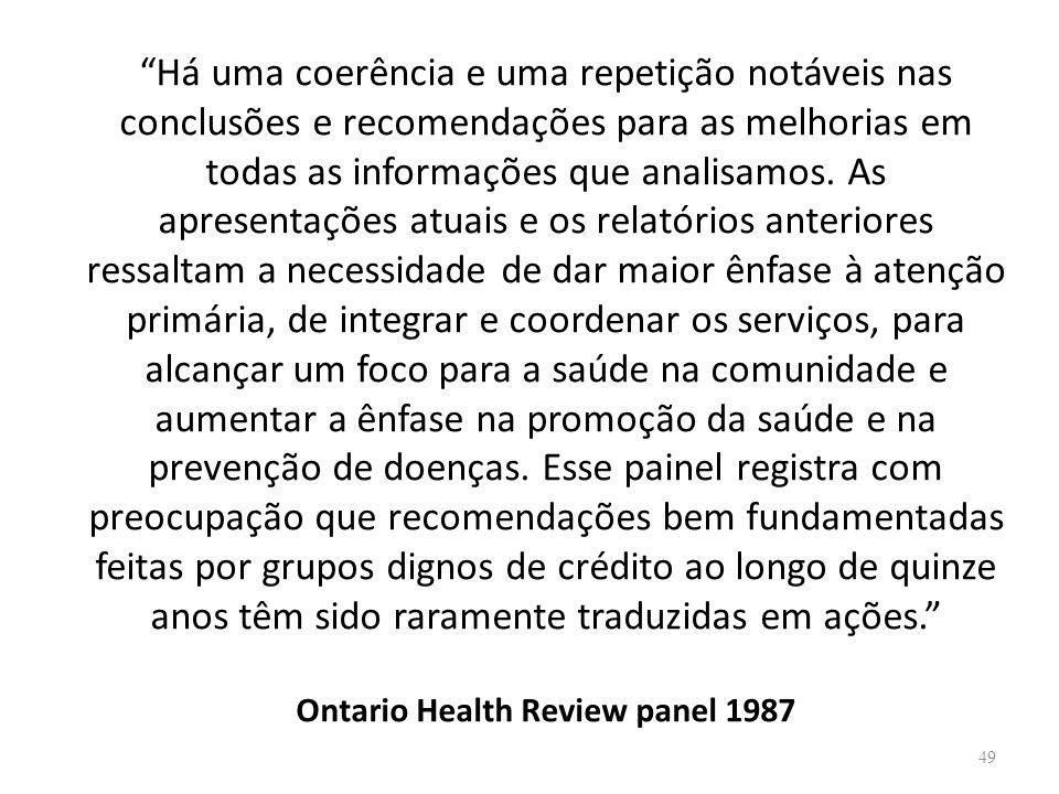 Há uma coerência e uma repetição notáveis nas conclusões e recomendações para as melhorias em todas as informações que analisamos. As apresentações at
