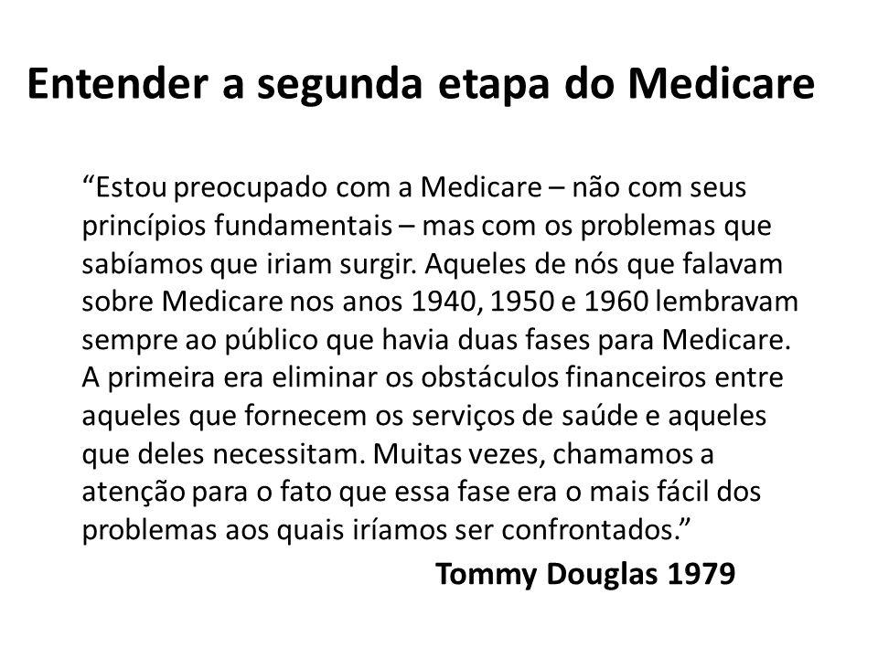 Estou preocupado com a Medicare – não com seus princípios fundamentais – mas com os problemas que sabíamos que iriam surgir. Aqueles de nós que falava
