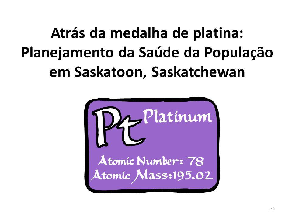 Atrás da medalha de platina: Planejamento da Saúde da População em Saskatoon, Saskatchewan 62