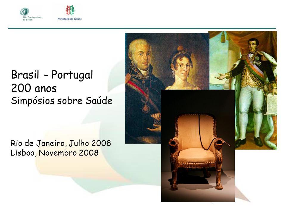 Brasil - Portugal 200 anos Simpósios sobre Saúde Rio de Janeiro, Julho 2008 Lisboa, Novembro 2008