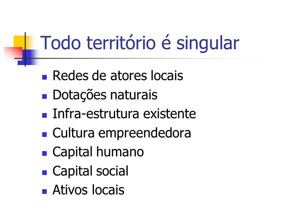 Todo desenvolvimento local exige protagonismo local Identidade (pertencimento) Cultura empreendedora (auto-estima, auto-confiança, iniciativa) Capital humano (conhecimentos, habilidades, competências) Capital social (confiança, cooperação, organização, participação) Empoderamento