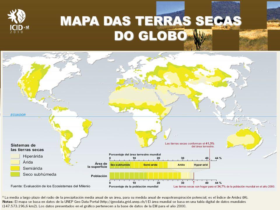 Organização Patrocínio MAPA DAS TERRAS SECAS DO GLOBO