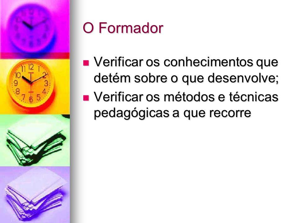 O Programa Objectivos da formação; Objectivos da formação; Conteúdos pedagógicos; Conteúdos pedagógicos; Pertinência dos conteúdos pedagógicos; Pertinência dos conteúdos pedagógicos;