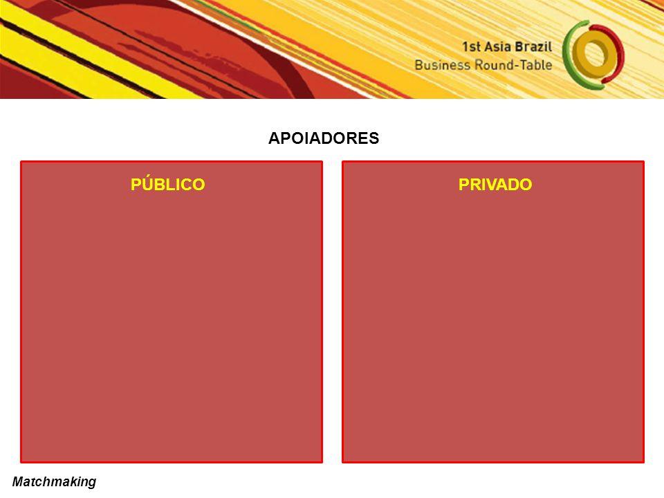 APOIADORES PÚBLICOPRIVADO Matchmaking