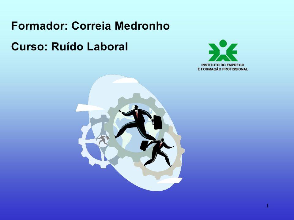 1 Formador: Correia Medronho Curso: Ruído Laboral