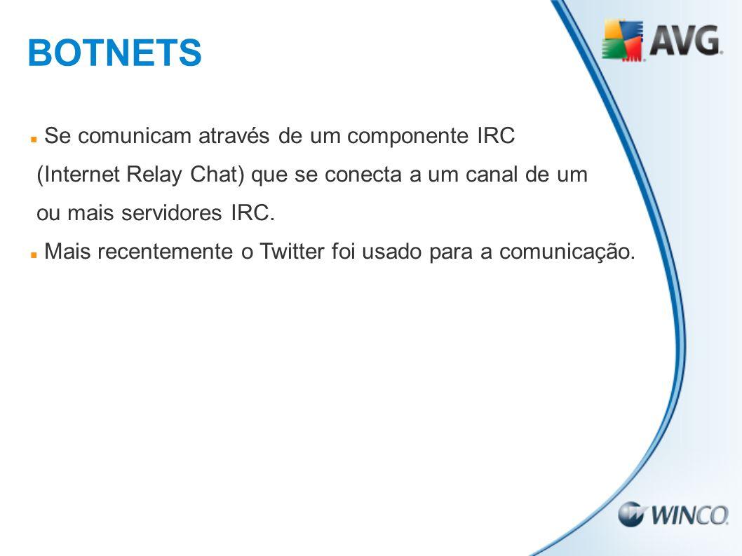 Se comunicam através de um componente IRC (Internet Relay Chat) que se conecta a um canal de um ou mais servidores IRC. Mais recentemente o Twitter fo