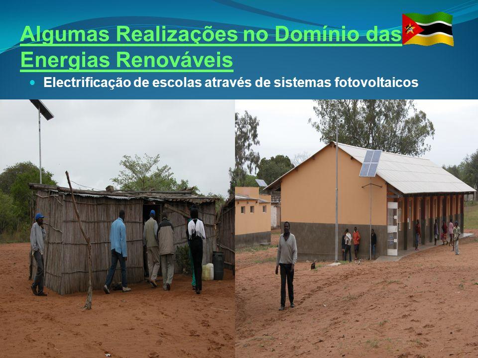Algumas Realizações no Domínio das Energias Renováveis Electrificação de escolas através de sistemas fotovoltaicos