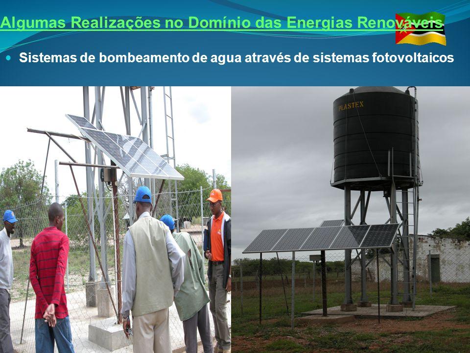 Algumas Realizações no Domínio das Energias Renováveis Sistemas de bombeamento de agua através de sistemas fotovoltaicos