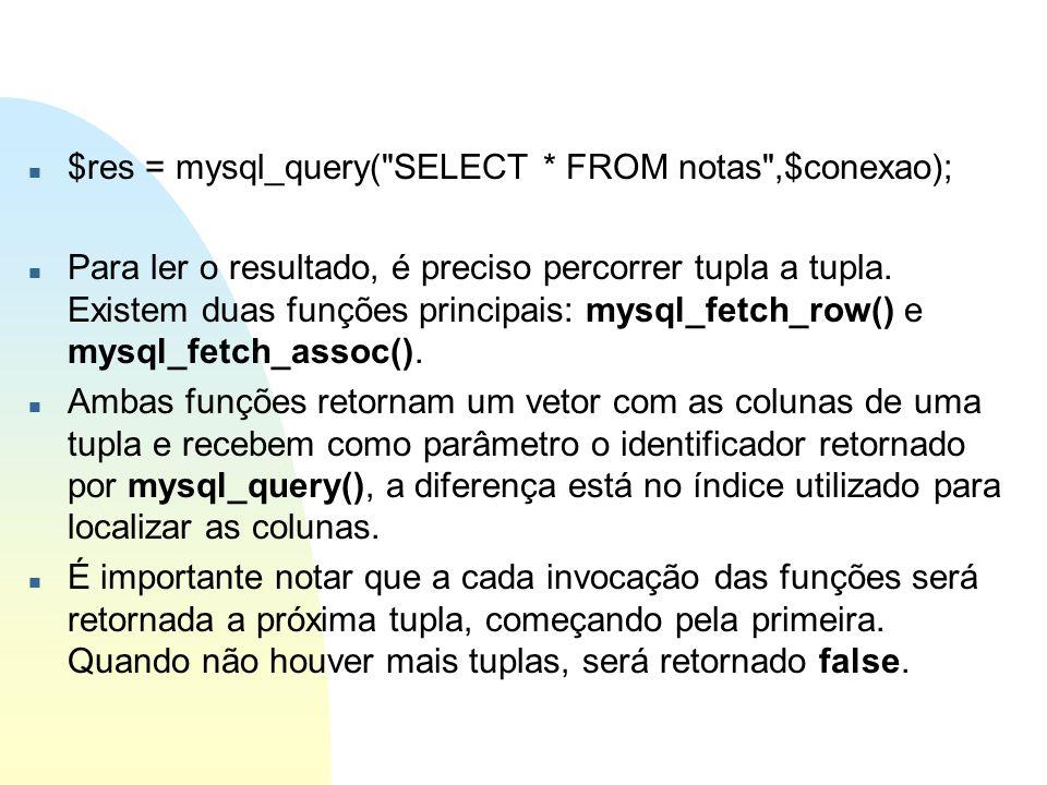 n $res = mysql_query(