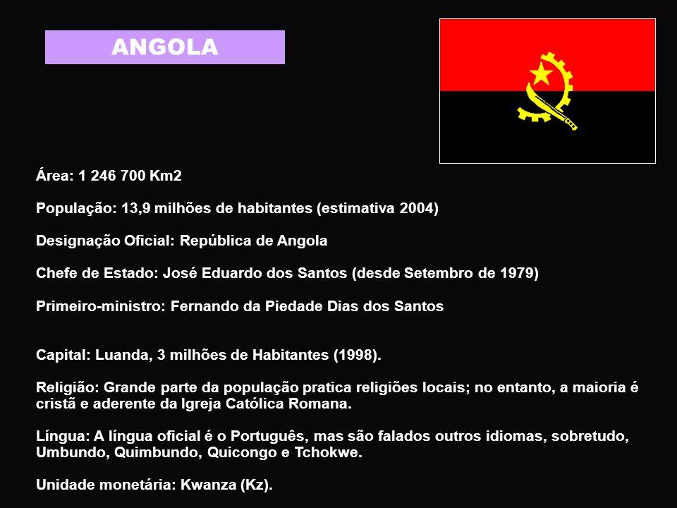 MOÇAMBIQUE Área: 799.390 km2 População: 19,4 milhões de habitantes (2005) Designação oficial: República de Moçambique Chefe de Estado: Armando Emílio Guebuza (desde Fevereiro de 2005).