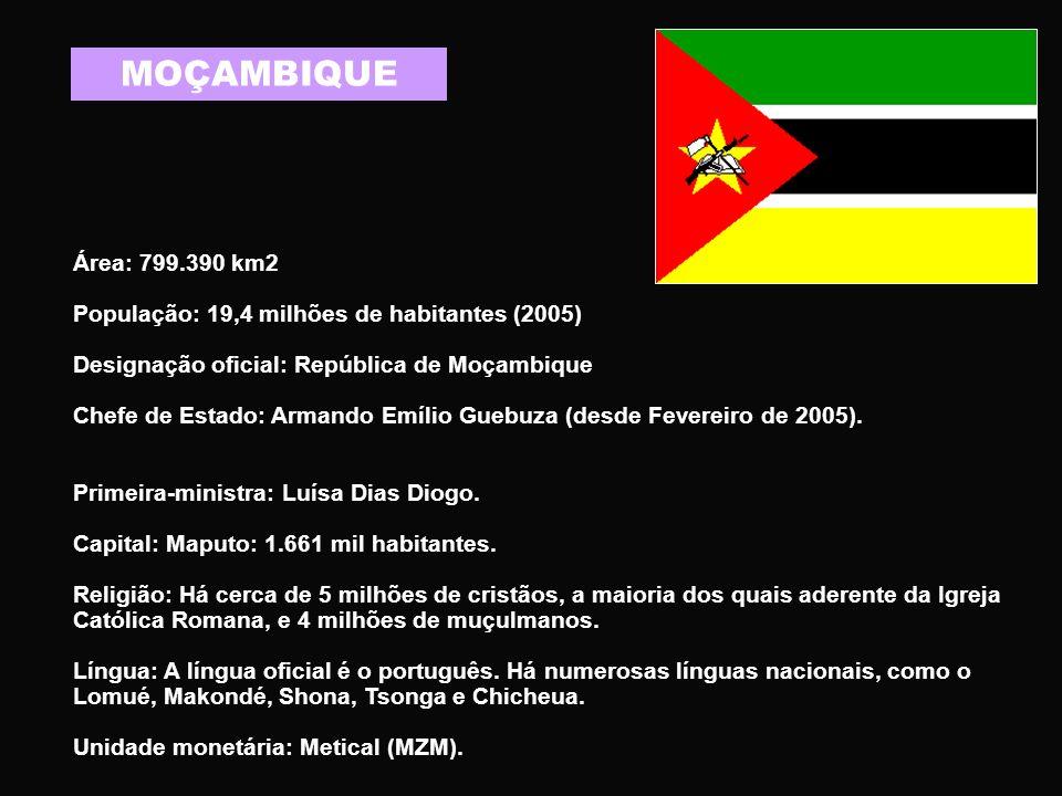 GUINÉ BISSAU Área: 36.125 km2.População: 1.530.000 habitantes (estimativa 2004, EIU).