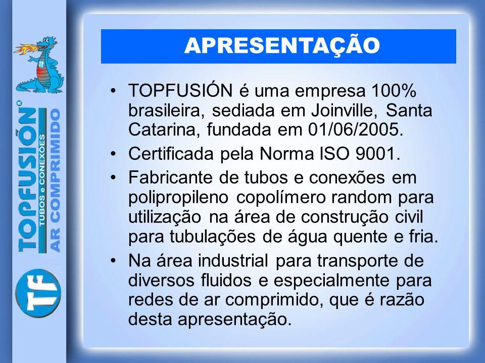 TOPFUSIÓN é uma empresa 100% brasileira, sediada em Joinville, Santa Catarina, fundada em 01/06/2005. Certificada pela Norma ISO 9001. Fabricante de t
