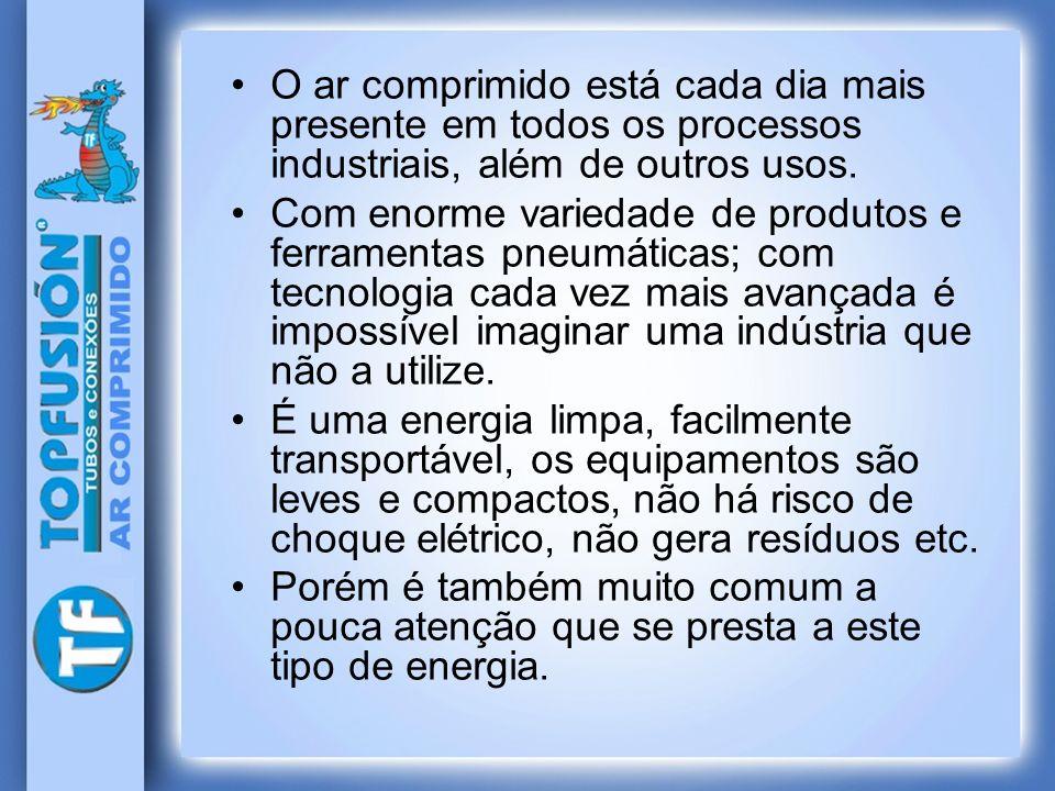 O ar comprimido está cada dia mais presente em todos os processos industriais, além de outros usos. Com enorme variedade de produtos e ferramentas pne