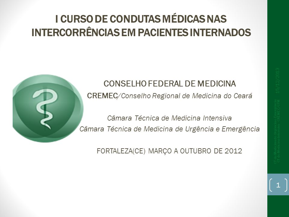 Se todos os médicos reconhecessem e tratassem: Comportamento verificado no estudo: Custo total : R$ 12.420,00 Custo por paciente: R$ 30,00 Custo total : R$ 95.000,00 Custo por paciente: R$ 214,00 7 x cefaleias no Brasil CT de Medicina de Urgência e Emergência CT de Medicina Intensiva - CREMEC/CFM 22