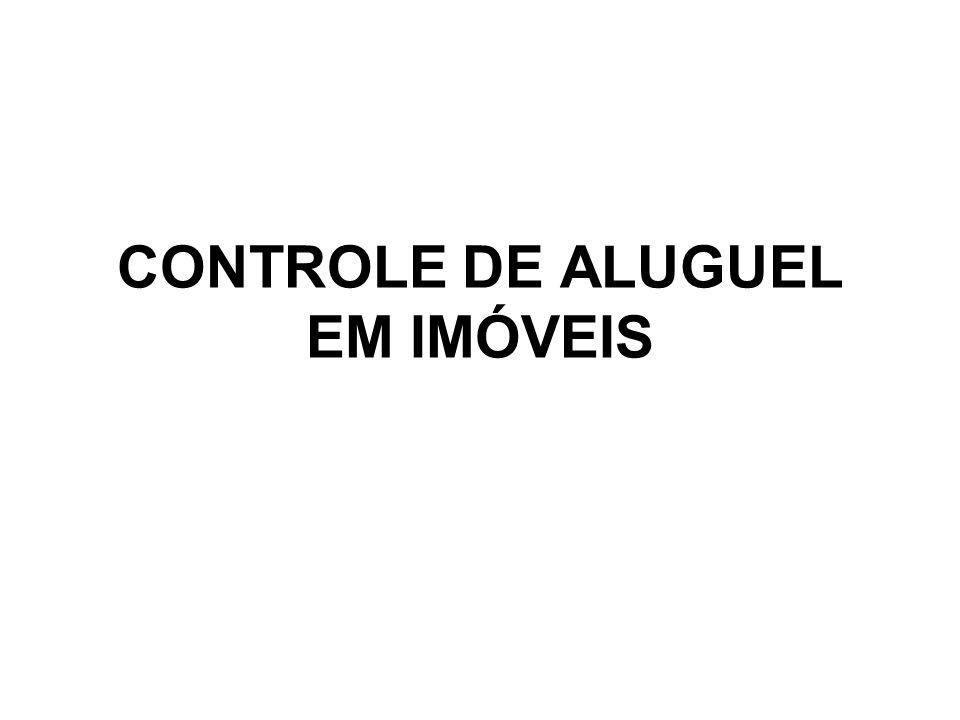 CONTROLE DE ALUGUEL EM IMÓVEIS