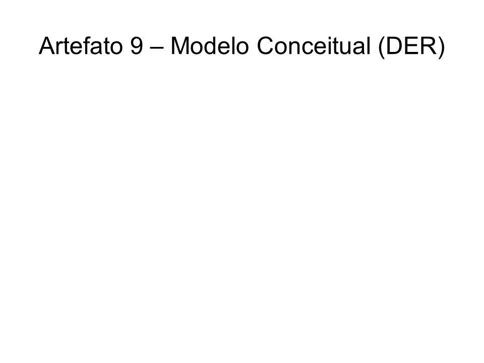 Artefato 9 – Modelo Conceitual (DER)