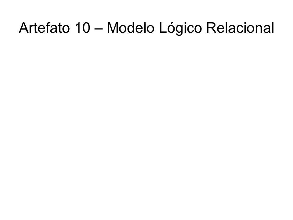 Artefato 10 – Modelo Lógico Relacional