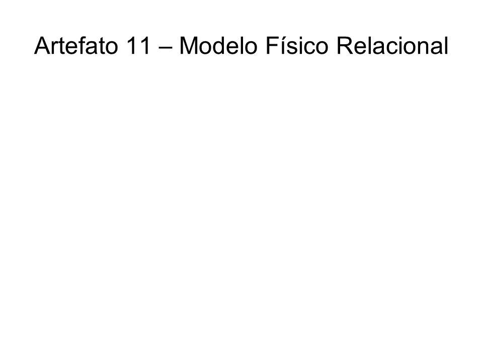 Artefato 11 – Modelo Físico Relacional