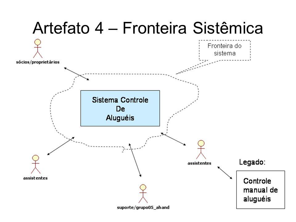 Artefato 5 - Restrições FonteRestriçãoLógica Equipamentos Sistema deve ser baseado em uma servidora e dois clientes, todos computadores PC com SO Windows XP e memória RAM de 256 MB, já disponíveis na empresa.