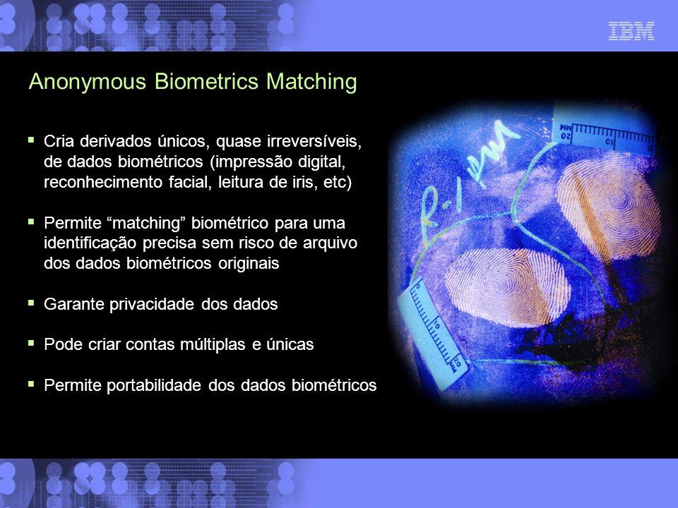 Cria derivados únicos, quase irreversíveis, de dados biométricos (impressão digital, reconhecimento facial, leitura de iris, etc) Permite matching bio