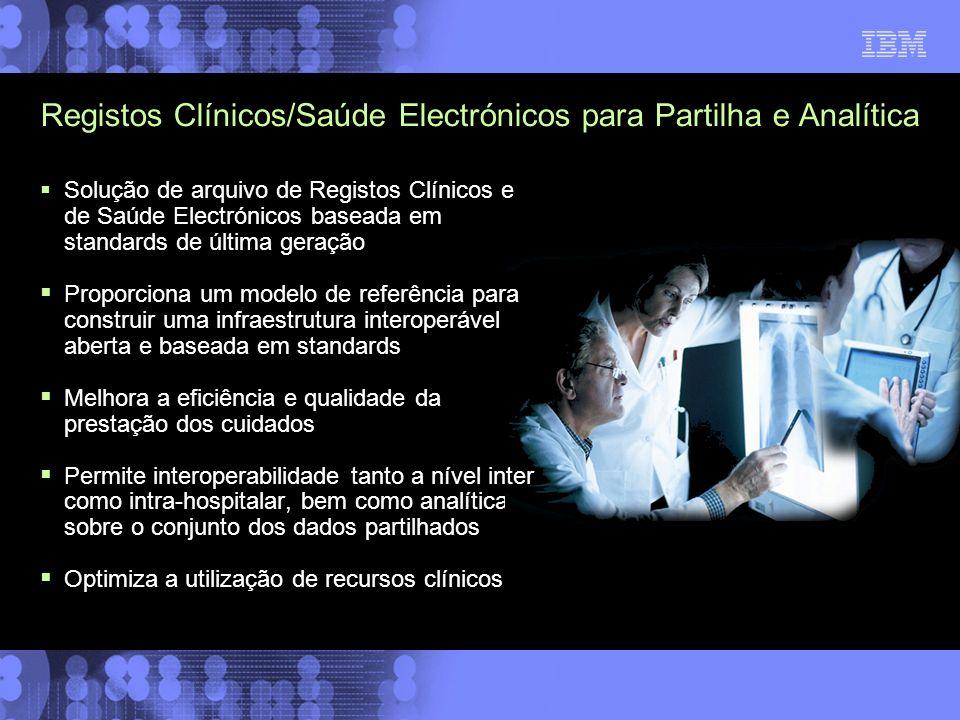 Registos Clínicos/Saúde Electrónicos para Partilha e Analítica Solução de arquivo de Registos Clínicos e de Saúde Electrónicos baseada em standards de