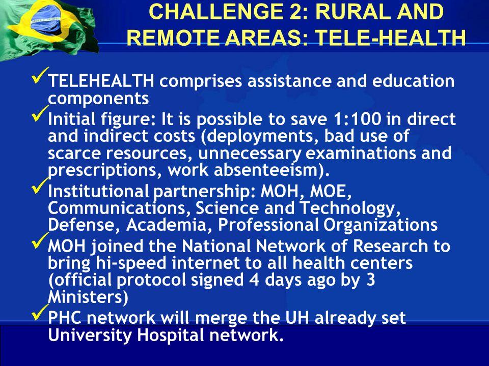 Departamento de Gestão da Educação na Saúde Secretaria de Gestão do Trabalho e da Educação na Saúde Ministério da Saúde CHALLENGE 2: RURAL AND REMOTE