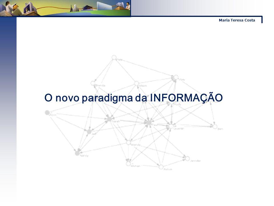 Maria Teresa Costa O novo paradigma da INFORMAÇÃO