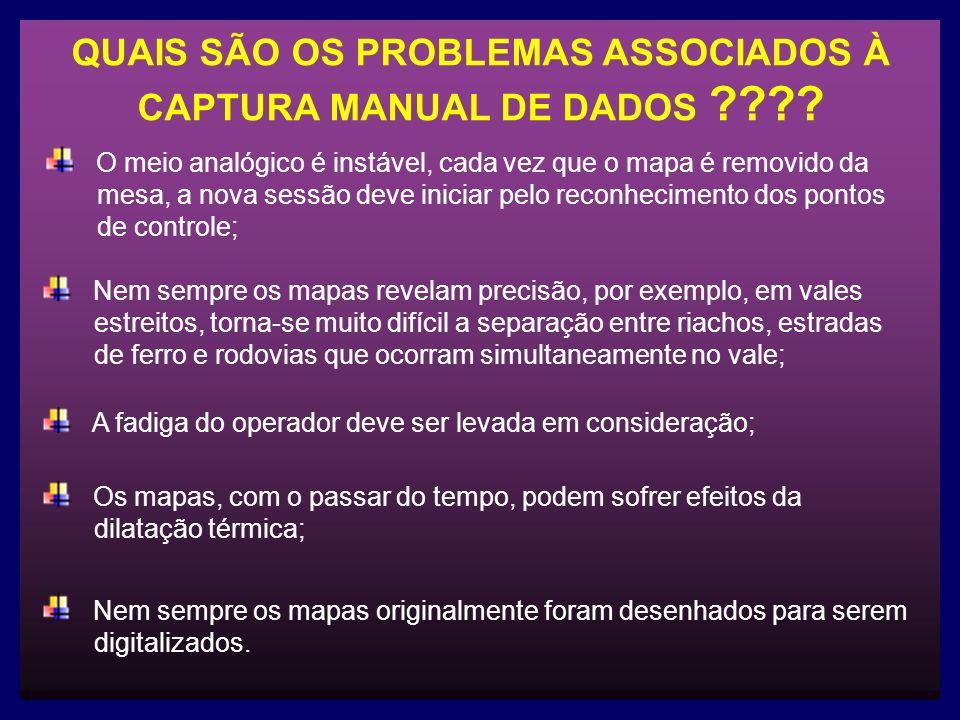 QUAIS SÃO OS PROBLEMAS ASSOCIADOS À CAPTURA MANUAL DE DADOS .
