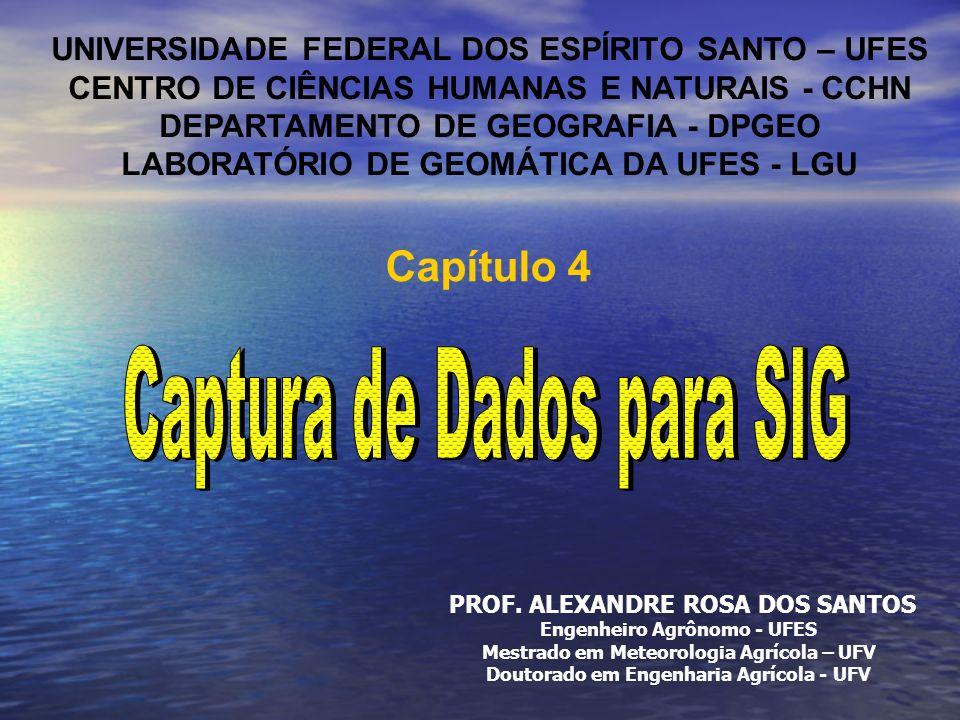 UNIVERSIDADE FEDERAL DOS ESPÍRITO SANTO – UFES CENTRO DE CIÊNCIAS HUMANAS E NATURAIS - CCHN DEPARTAMENTO DE GEOGRAFIA - DPGEO LABORATÓRIO DE GEOMÁTICA DA UFES - LGU PROF.