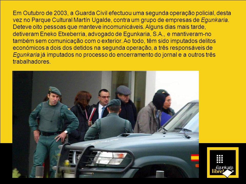 Em Outubro de 2003, a Guarda Civil efectuou uma segunda operação policial, desta vez no Parque Cultural Martín Ugalde, contra um grupo de empresas de